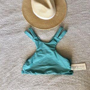 NWT Tori Praver Swimwear High-neck Bikini Top